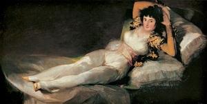"Francisco Goya ""La maja vestida"", 1800 circa. Madrid, Prado."